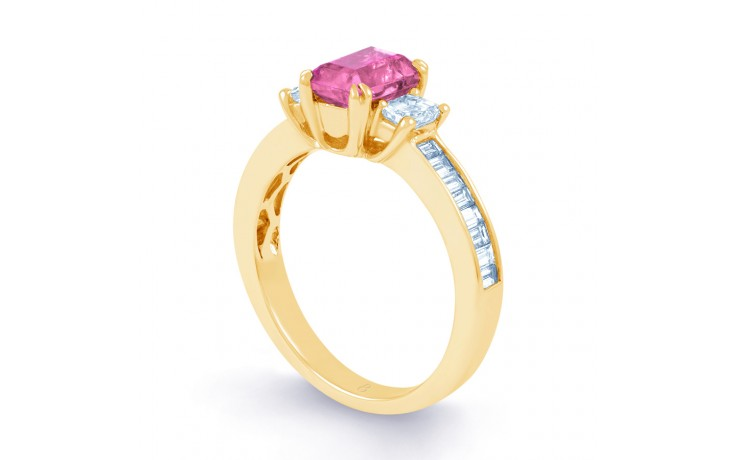 Devi Pink Sapphire Yellow Gold Ring product image 2
