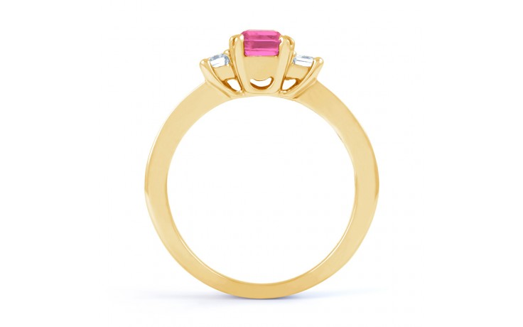 Devi Pink Sapphire Yellow Gold Ring product image 3