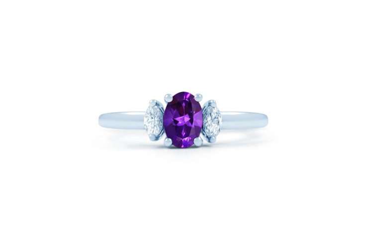 Rani Amethyst & Diamond Ring product image 1