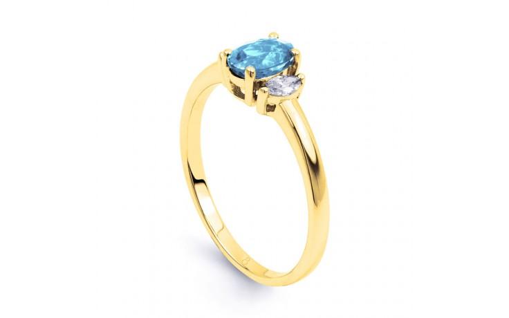 Rani Aquamarine Ring In Yellow Gold product image 2