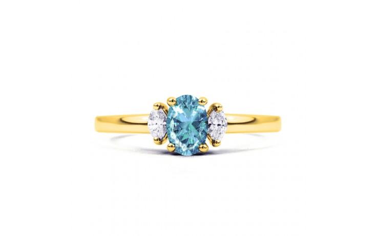 Rani Aquamarine Ring In Yellow Gold product image 1