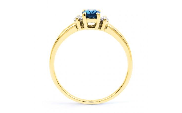 Rani Aquamarine Ring In Yellow Gold product image 3