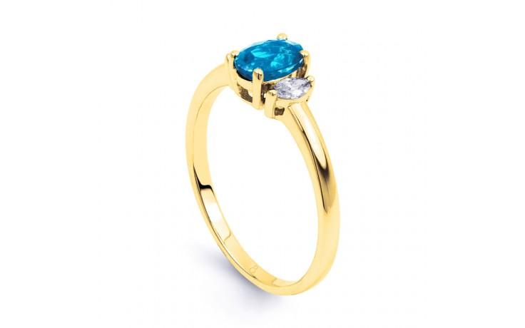 Rani Blue Topaz & Diamond Gold Ring product image 2