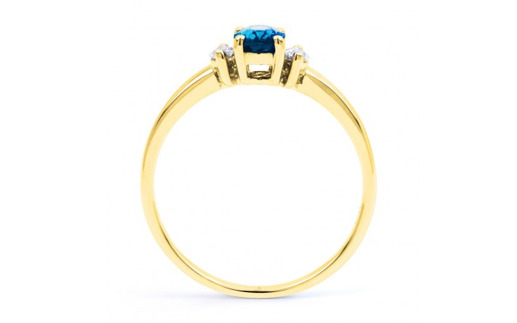 Rani Blue Topaz & Diamond Gold Ring product image 3
