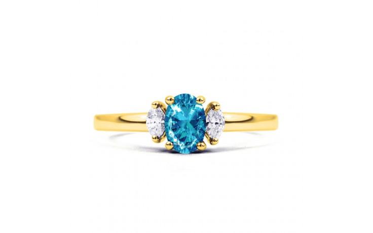Rani Blue Topaz & Diamond Gold Ring product image 1