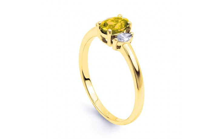 Rani Citrine & Diamond Gold Ring product image 2
