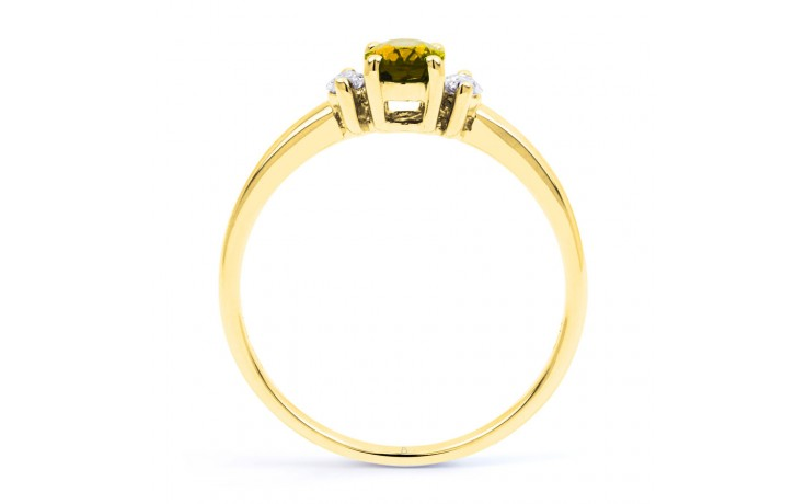 Rani Citrine & Diamond Gold Ring product image 3