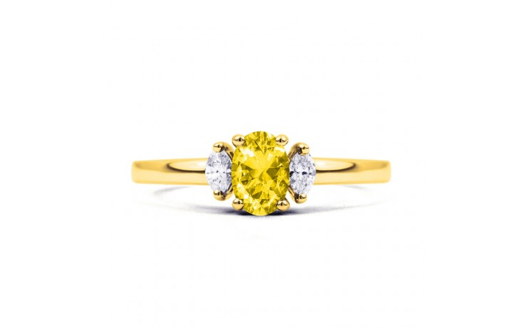 Rani Citrine & Diamond Gold Ring product image 1