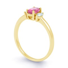 Rani Natural Pink Sapphire and Marquise Diamond Engagement Ring image 1