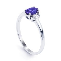 Rani 18ct White Gold Tanzanite and Diamond Engagement Ring image 1