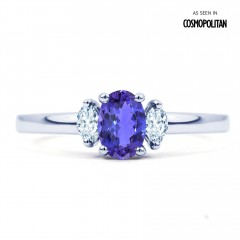Rani 18ct White Gold Tanzanite and Diamond Engagement Ring image 0