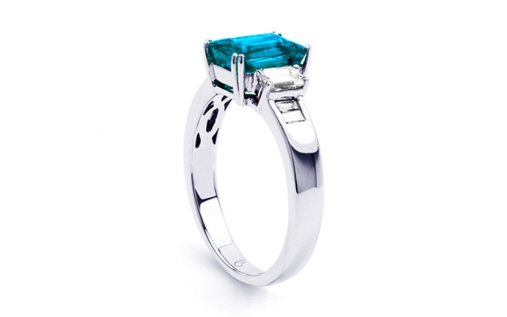 Aiko Blue Topaz & Diamond Ring product image 2