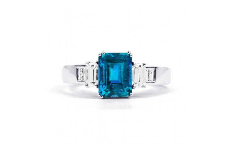 Aiko Blue Topaz & Diamond Ring product image 1