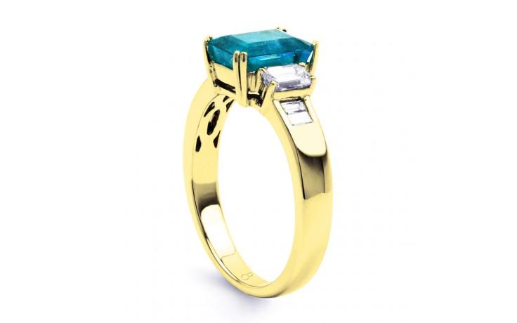 Aiko Blue Topaz & Diamond Gold Ring product image 2