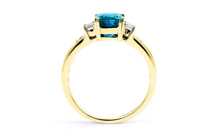 Aiko Blue Topaz & Diamond Gold Ring product image 3