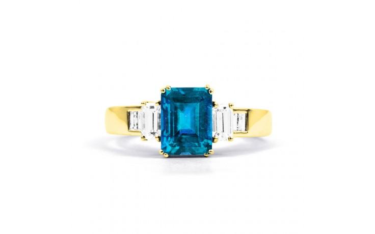 Aiko Blue Topaz & Diamond Gold Ring product image 1