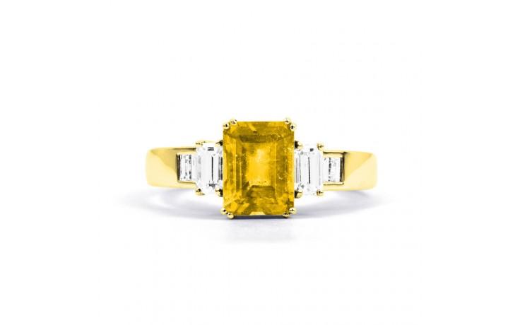 Aiko Citrine & Diamond Gold Ring product image 1