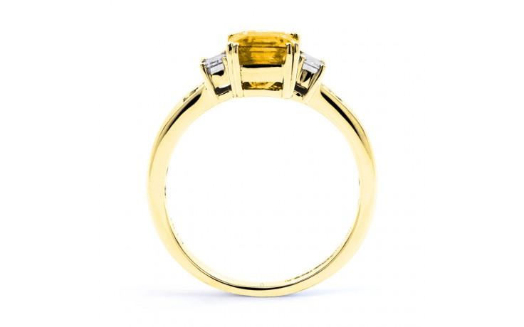 Aiko Citrine & Diamond Gold Ring product image 3