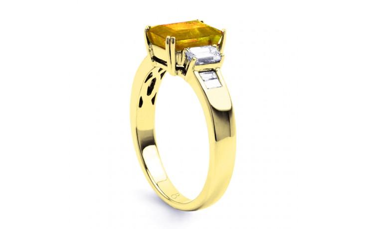 Aiko Citrine & Diamond Gold Ring product image 2