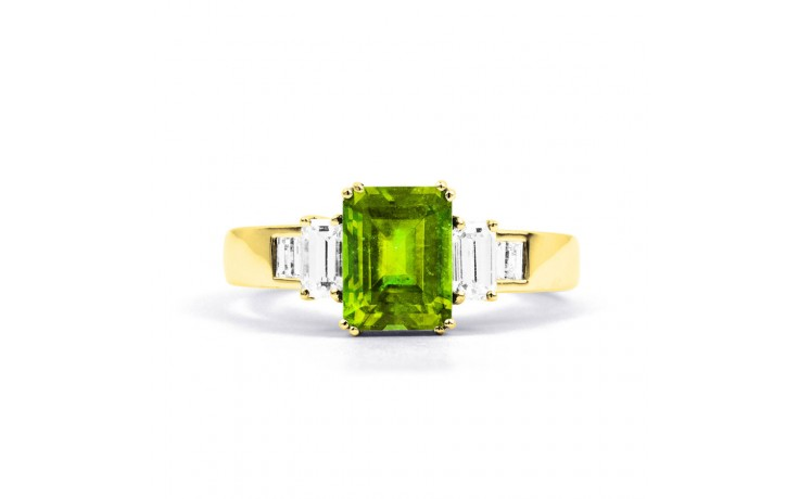Aiko Peridot & Diamond Gold Ring product image 1