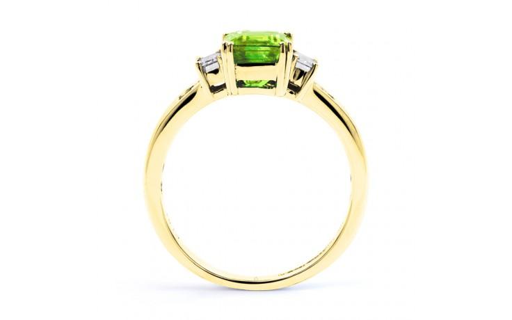 Aiko Peridot & Diamond Gold Ring product image 3