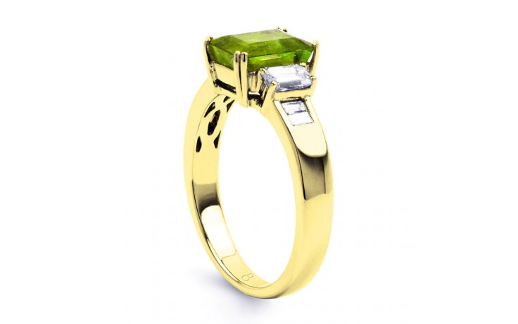 Aiko Peridot & Diamond Gold Ring product image 2