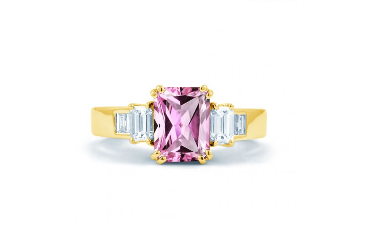 Aiko Pink Sapphire Yellow Gold Ring product image 1