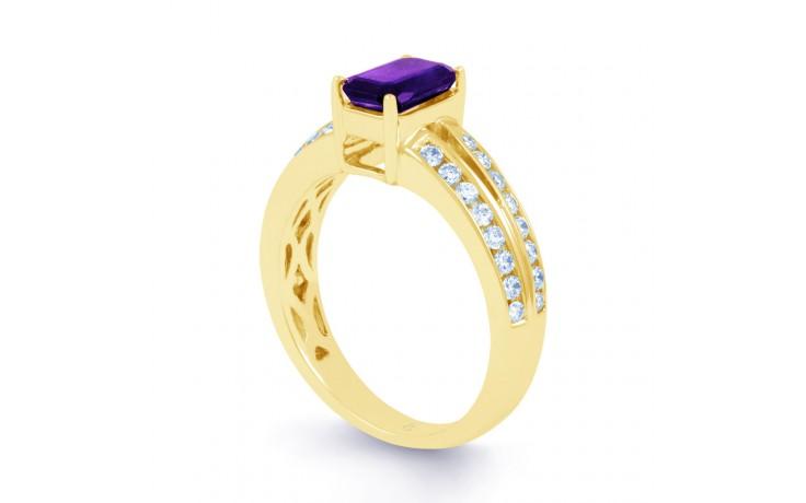 Everest Amethyst & Diamond Gold RIng product image 2