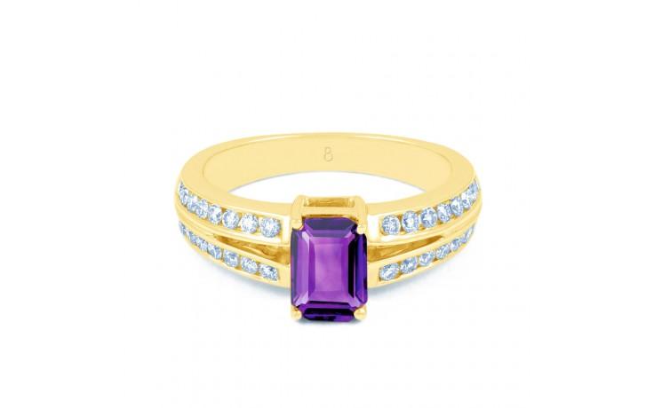 Everest Amethyst & Diamond Gold RIng product image 1