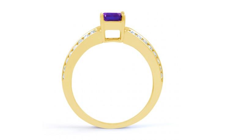 Everest Amethyst & Diamond Gold RIng product image 3