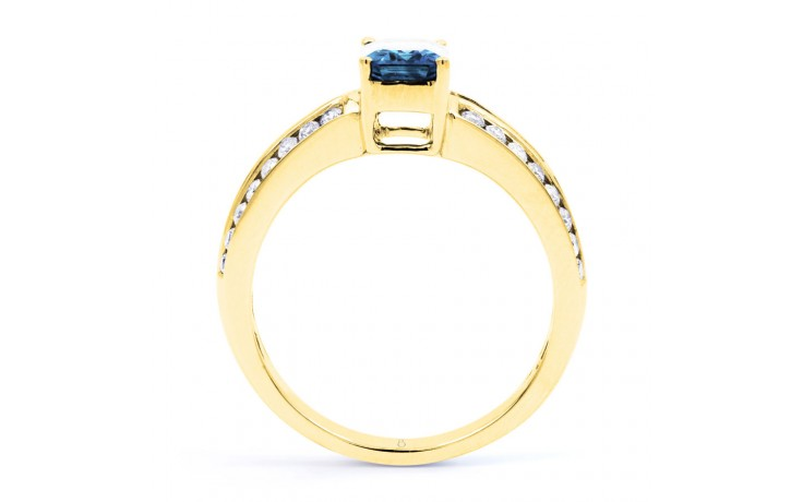 Everest Aquamarine Ring In Yellow Gold product image 2