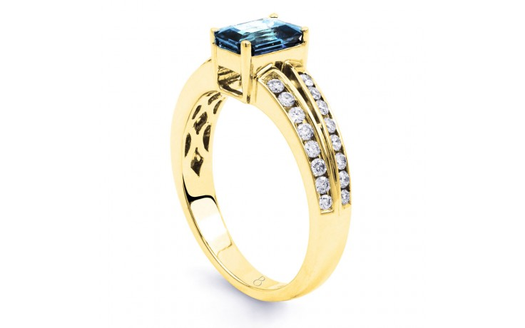 Everest Aquamarine Ring In Yellow Gold product image 3