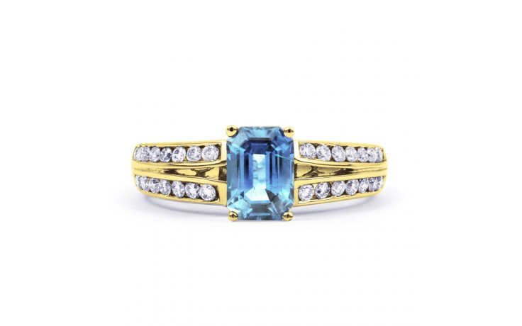 Everest Aquamarine Ring In Yellow Gold product image 1