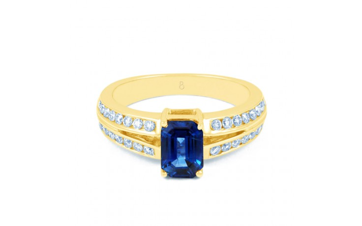 Everest Blue Sapphire Gold Ring product image 1