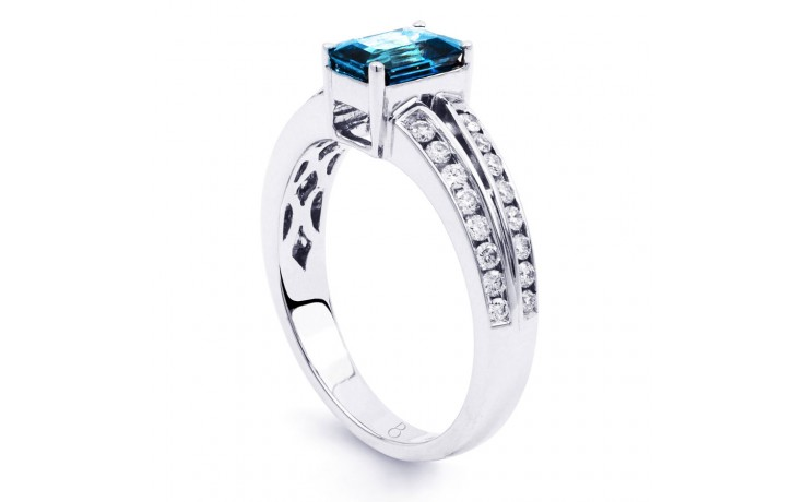Everest Blue Topaz White Gold Ring  product image 2