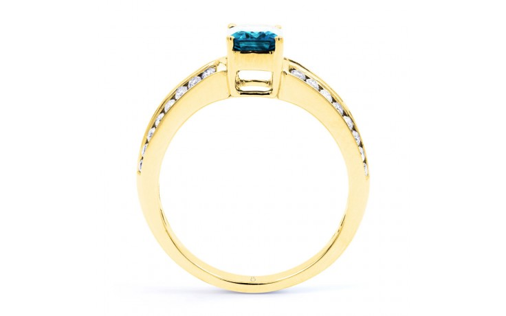 Everest Blue Topaz Yellow Gold Ring product image 3