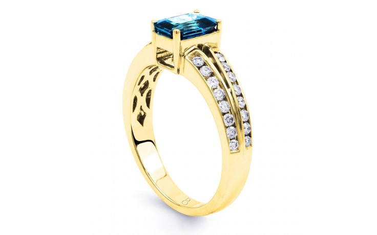 Everest Blue Topaz Yellow Gold Ring product image 2