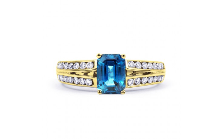Everest Blue Topaz Yellow Gold Ring product image 1