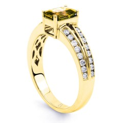 Everest 18ct Yellow Gold Citrine Double Shoulders Ring image 1