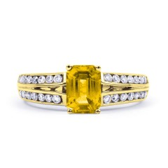 Everest 18ct Yellow Gold Citrine Double Shoulders Ring image 0