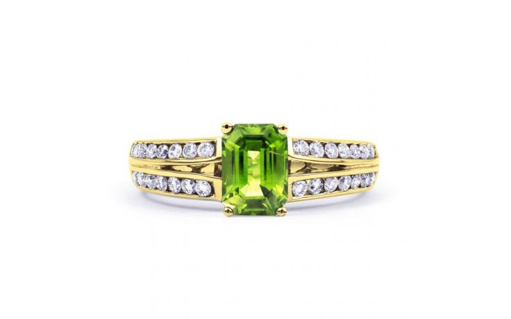 Everest Peridot & Diamond Gold Ring product image 1