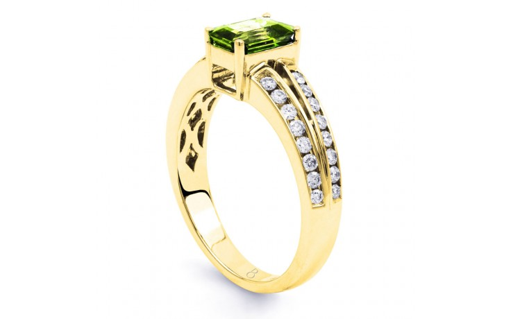 Everest Peridot & Diamond Gold Ring product image 3