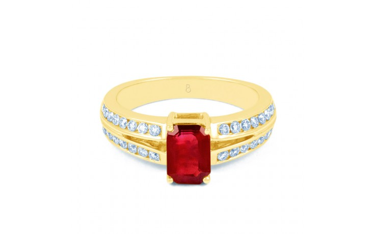 Everest Ruby Gold Ring product image 1