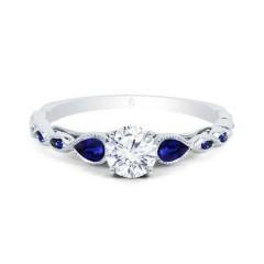 Clara Diamond & Blue Sapphire Ring image 0