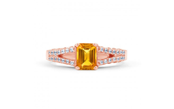 Rose Gold Citrine Engagement Ring product image 1