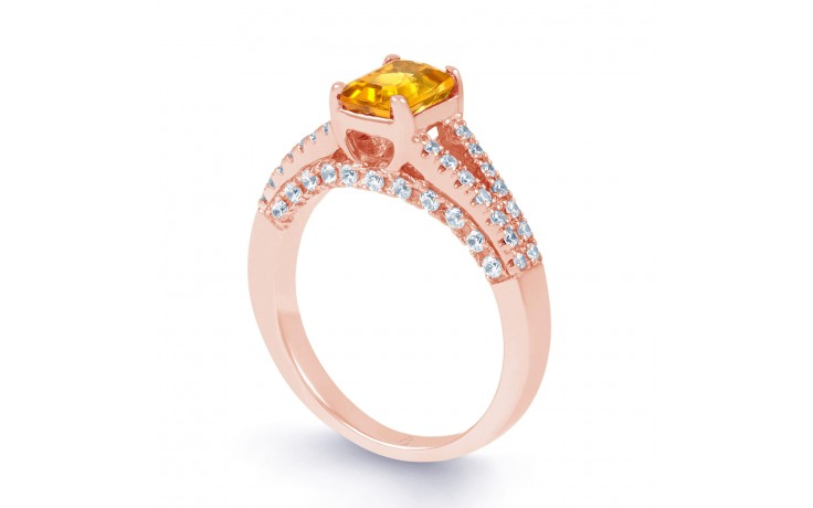 Rose Gold Citrine Engagement Ring product image 2