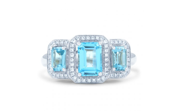 Blue Topaz & Diamond Trilogy Ring product image 1