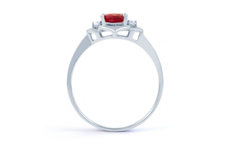 Vintage 18ct White Gold Floral Ruby and Diamond Gemstone Ring product image 3
