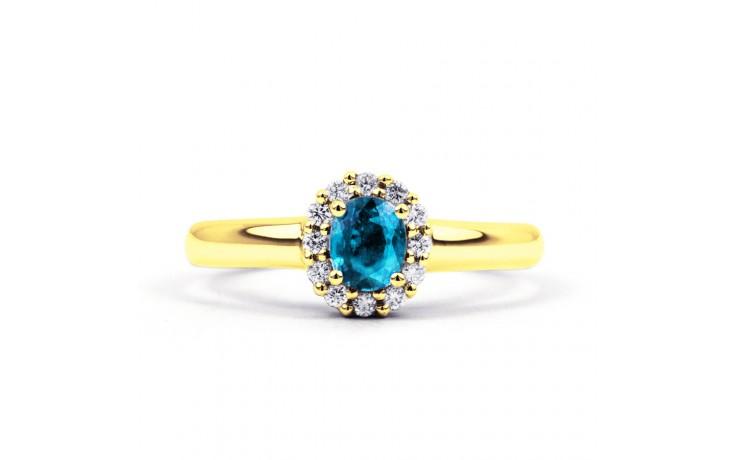 Aya Blue Topaz Halo Ring product image 1