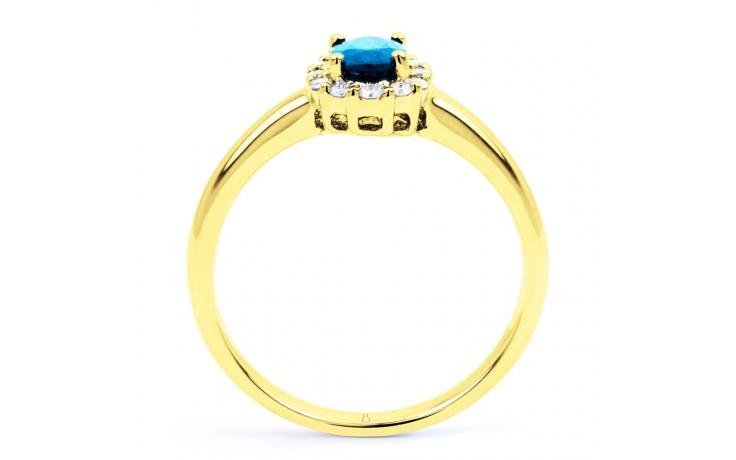 Aya Blue Topaz Halo Ring product image 3